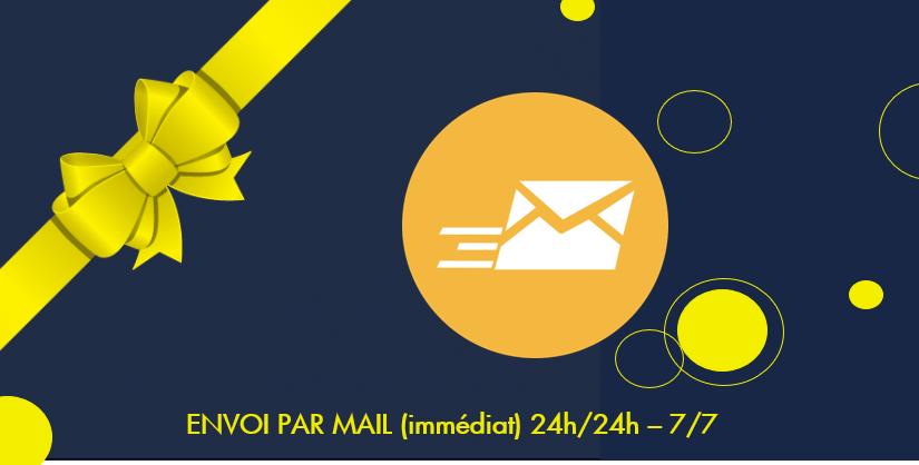 ENVOI PAR MAIL immédiat 24h/24h - 7/7